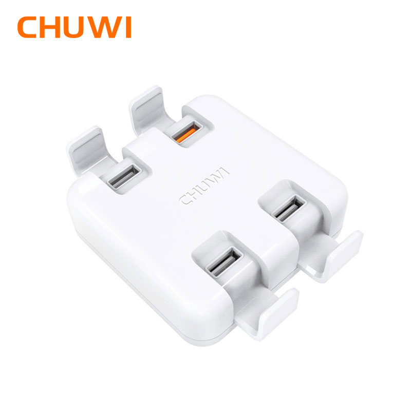 CHUWI Hi-DOCK Desktop Universal Charger Charger 4-Ports Charger Bracket 2 in 1 Quick Charge 3.0 for tablet Phone tronsmart ts cc2pc quick charge 2 0 two port car charger for galaxy s6