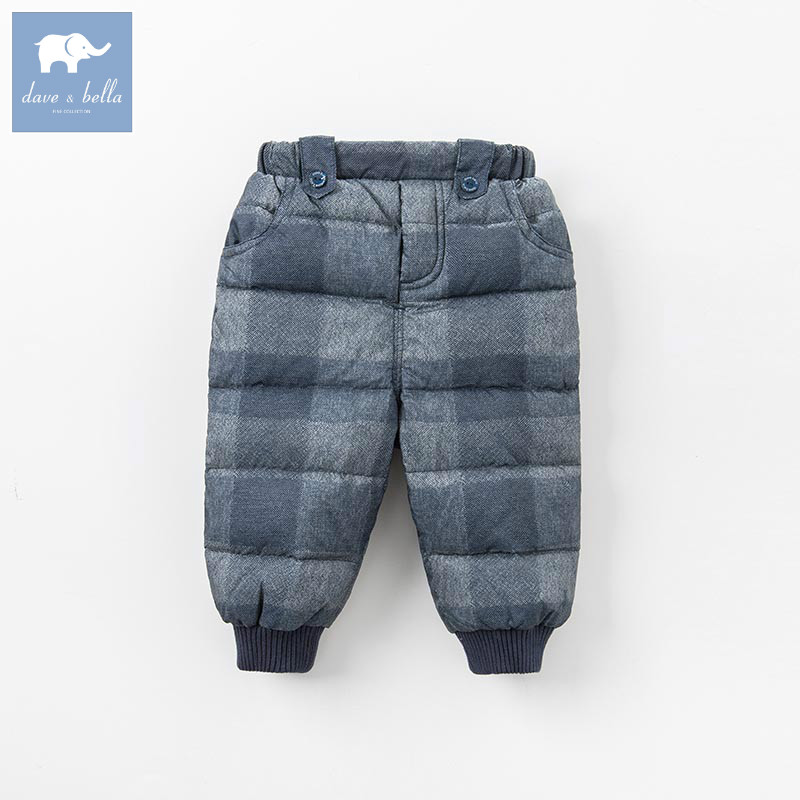 DB5583 dave bella winter boys down pants baby full length kids fashion plaid pants children trousers iron maiden iron maiden the book of souls live 3 lp 180 gr