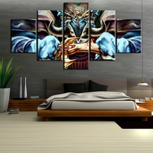 5 Piece HD Print Large World of Warcraft Poster Painting Canvas Wall Art Picture Home Decoration Living Room