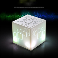 LED Flash Light Bluetooth Speaker For Magic Cube Speaker Wireless FM Subwoofer Stereo Sound Loudspeakers for TF Christmas Gift