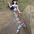 Bonecas artesanais Vestido de Festa Vestido de Roupas para Barbie Boneca Genuína Cauda de Sereia Vestido de Lantejoulas Sereia Do Bebê Brinquedos para As Crianças