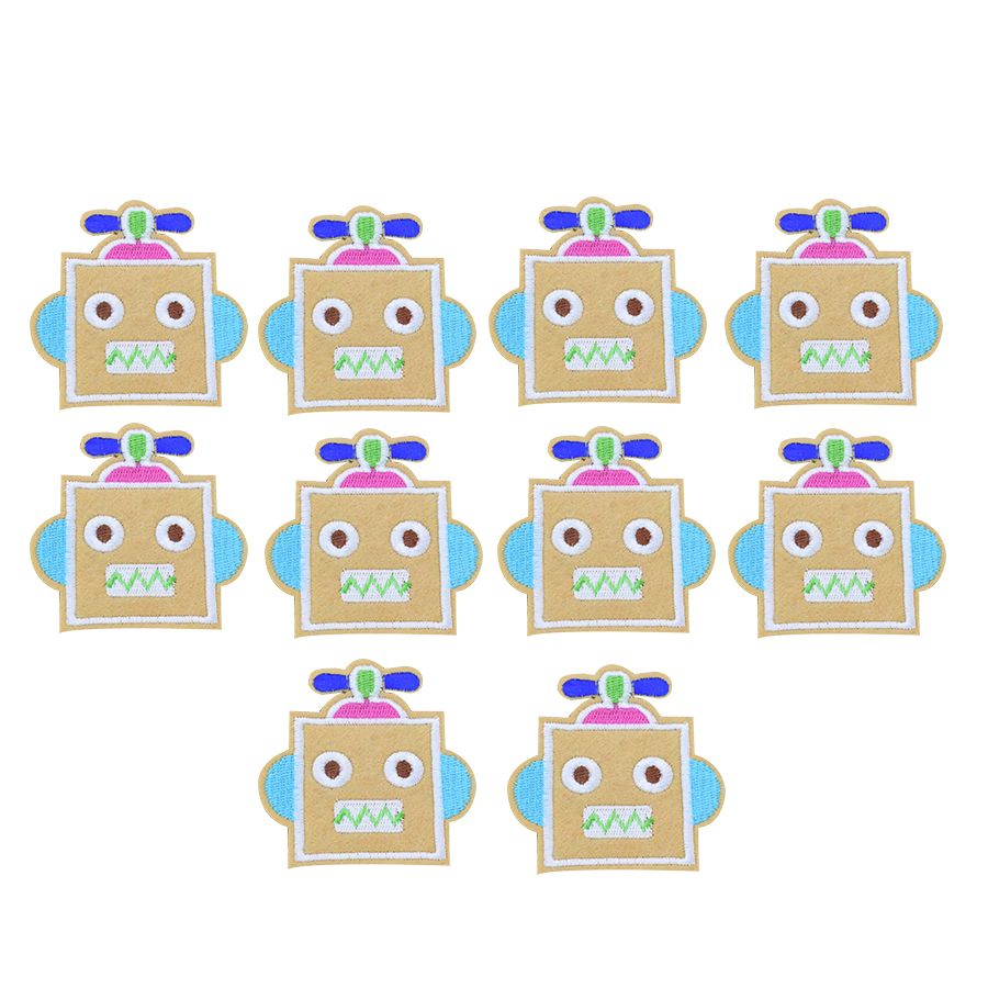 Cartoon robot patches for clothing iron on patches for