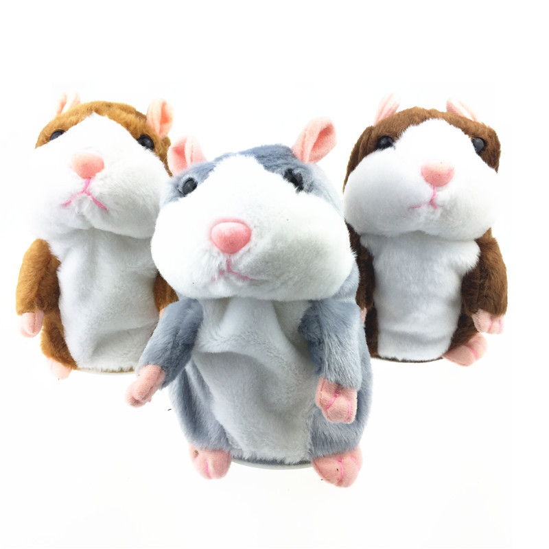 2018 Talking Hamster Mouse Pet Plush Toy Hot Cute Speak Talking Sound Record Hamster Educational Toy for Children Gift