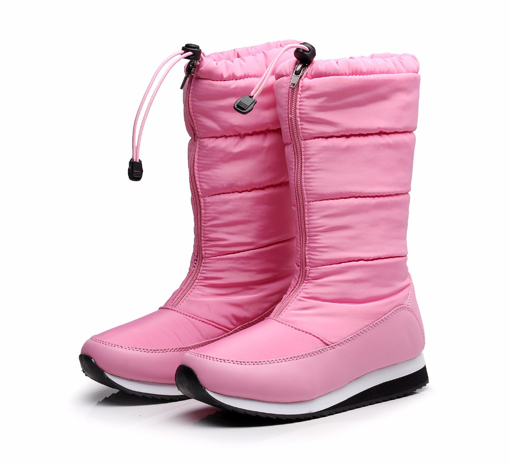 2017 new women snow boots plus hair thickening waterproof boots keep warm ski boots