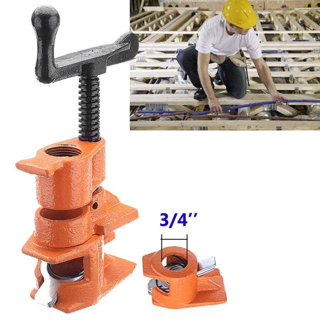 1/2 3/4inch Wood Gluing Pipe Clamp Set Cast Iron Heavy Duty Woodworking  Carpenter Tool WWO66