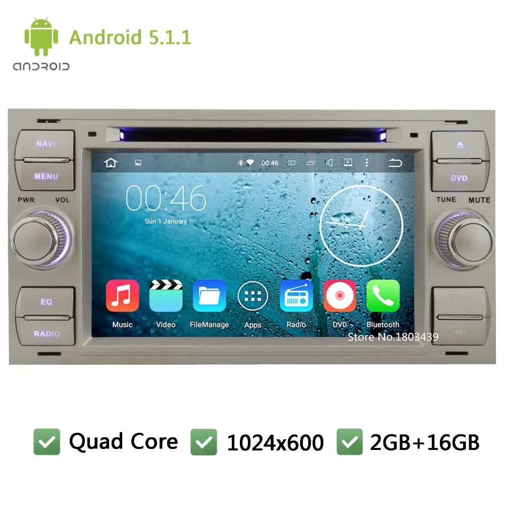 Quad core android 5 1 1 1024 600 dvd player do carro de r dio de