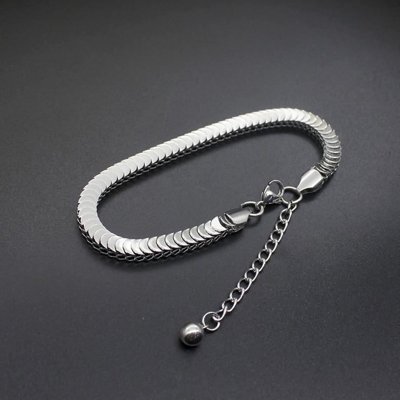 Нержавеющая сталь 316L змеиная цепочка браслет высокого качества браслеты для женщин и мужчин DIY цепочки ювелирные изделия с расширенными цепочками