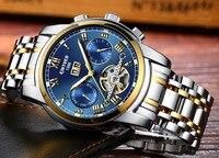 Winner Watch Men Skeleton Automatic Mechanical Watch Gold Skeleton Vintage Man Watch Mens FORSINING Watch Top