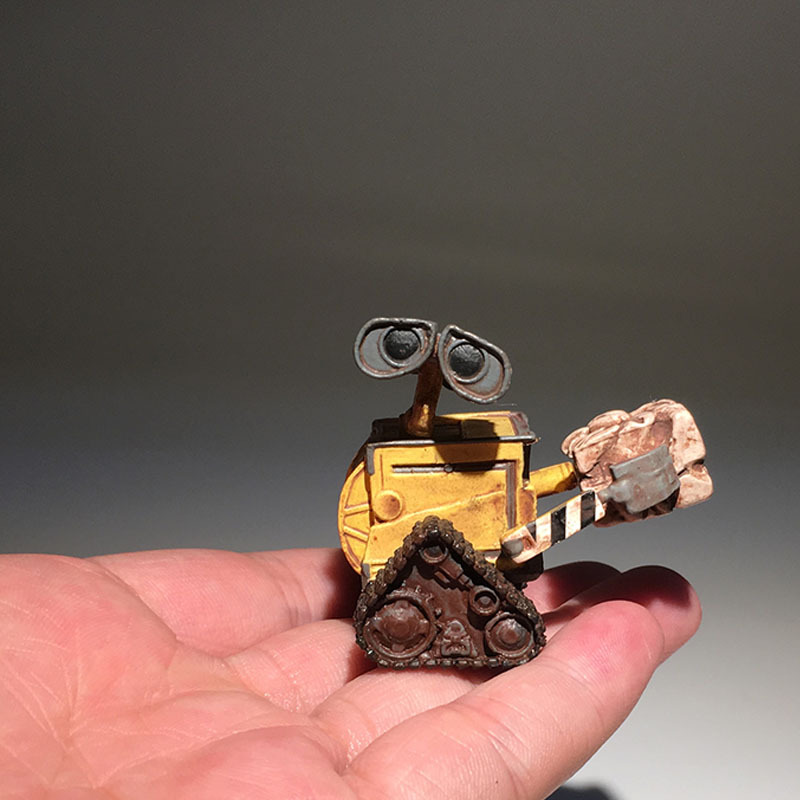 1pcs Original Wall E Figure Toy Robot Wall-e Mini Action Figures Toy Model Doll 5CM ...