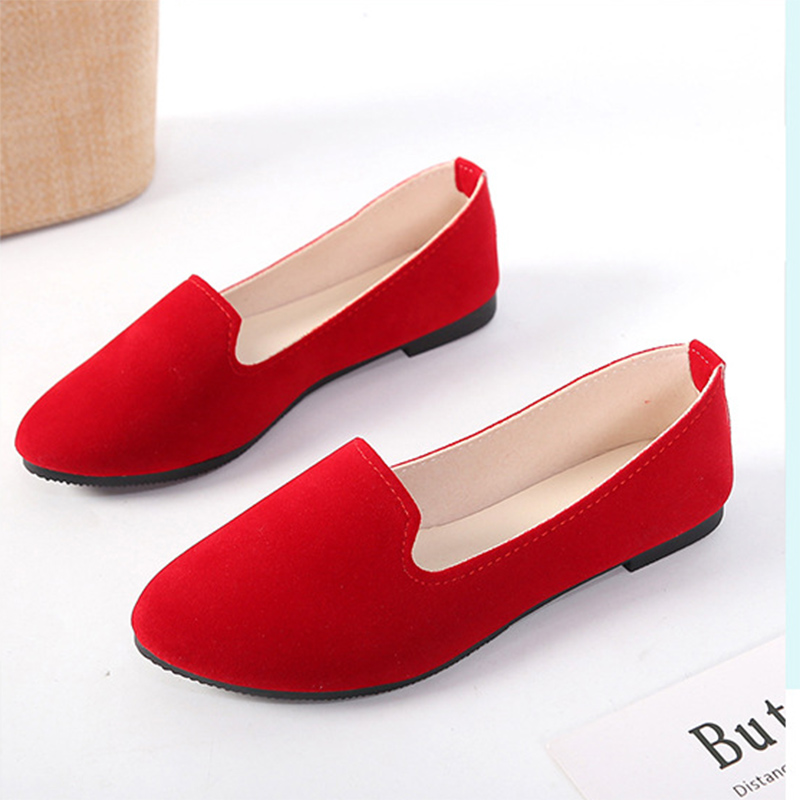 Women Flats shoes 35-43 Candy Color Woman Loafers Slip on Flat Shoes Big Size Ladies Ballet Flat Spring Autumn Zapatos Mujer big size 34 44 2018 spring women flats shoes women genuine leather flats ladies shoes female cutout slip on ballet flat loafers