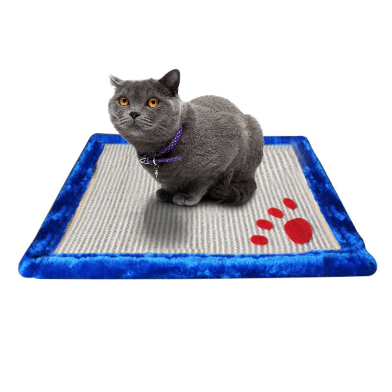 Cats Toy Scratching-stone Mat Pet Double Sided Sisal Non-toxic Cute Biting Chewing Squeaking Toys For Cats