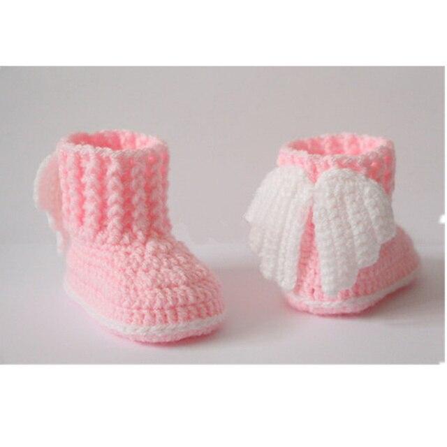 Envío Gratis, botitas de bebé de ganchillo, zapatos de bebé, botas ...
