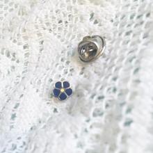Масонских пункт 7 мм синий цветок Forget Me Not масонских лацкан