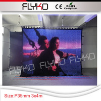 P35MM video display 3in1 lights foldable soft led 10ft x 14ft video curtain PC controller for event background with flight case