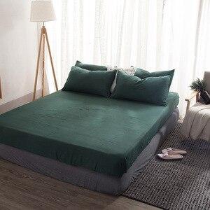 Image 5 - Einfache Feste Farbe Bettwäsche Set Teen Erwachsene Bettbezug Blatt Bettdecke Königin König Größe Bettwäsche Juegos De Cama
