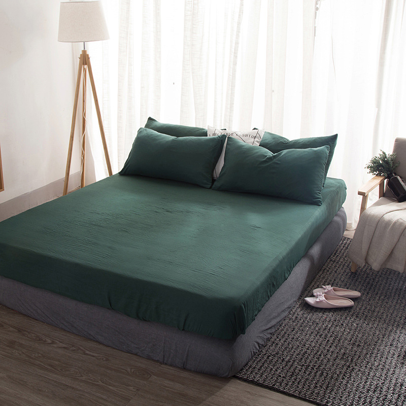 Image 5 - Simple Solid Color Bedding Set Teen Adult Duvet Cover Sheet Bed Cover Queen King Size Beddings Juegos De Cama-in Bedding Sets from Home & Garden