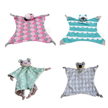 Cartoon Animal 0-12 Month Baby Cloth Blanket Toy Bedtime Koala Cat Squirrel Parrot Toys Infant Plush Soft Rattle Gift