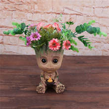 Baby Groot Flowerpot Action Figures Home Decoration Cute Model Cute Model Toy Flower Pot Drop Shipping(China)