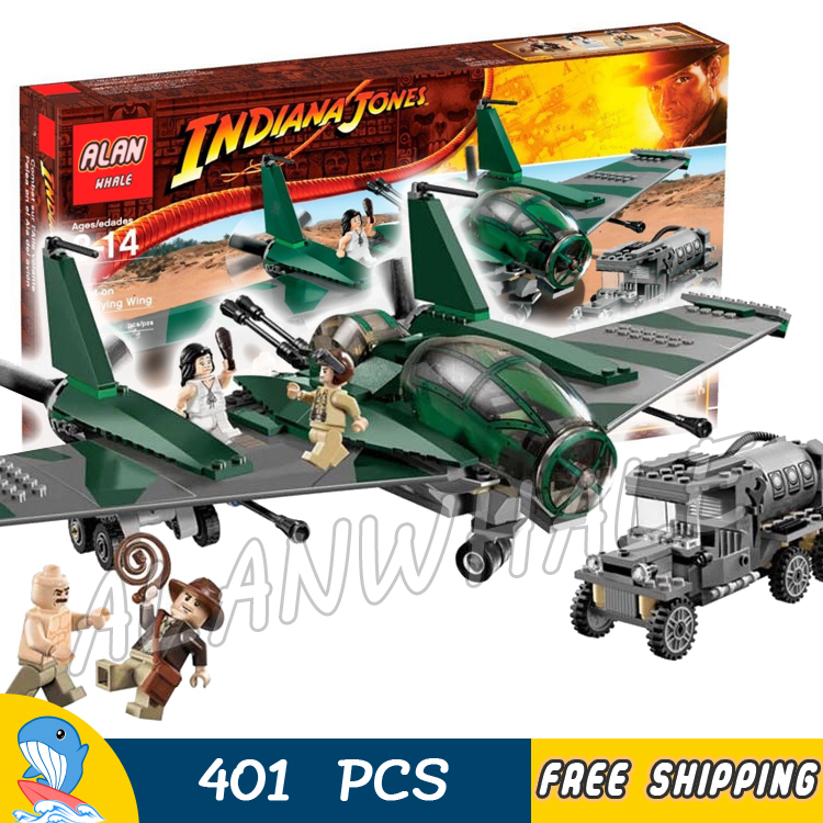 401pcs Indiana Jones Fight on the Flying Wing Marion Ravenwood 31002 Model Building Blocks Movie Toy Bricks Compatible with Lego china brand bricks toy diy building blocks compatible with lego batman movie the batmobile 70905