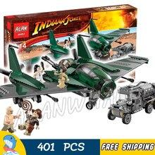 401 pcs Indiana Jones Luta sobre a Asa Voadora Marion Ravenwood 31002 Modelo Blocos de Construção Filme Toy Bricks Compatível com Lego