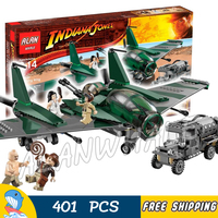 401pcs Indiana Jones Fight on the Flying Wing Marion Ravenwood 31002 Model Building Blocks Movie Toy Bricks Compatible with Lego