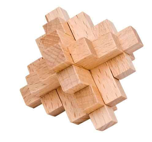 Classic Burr Puzzle 15 piece Wooden Interlocking Brain
