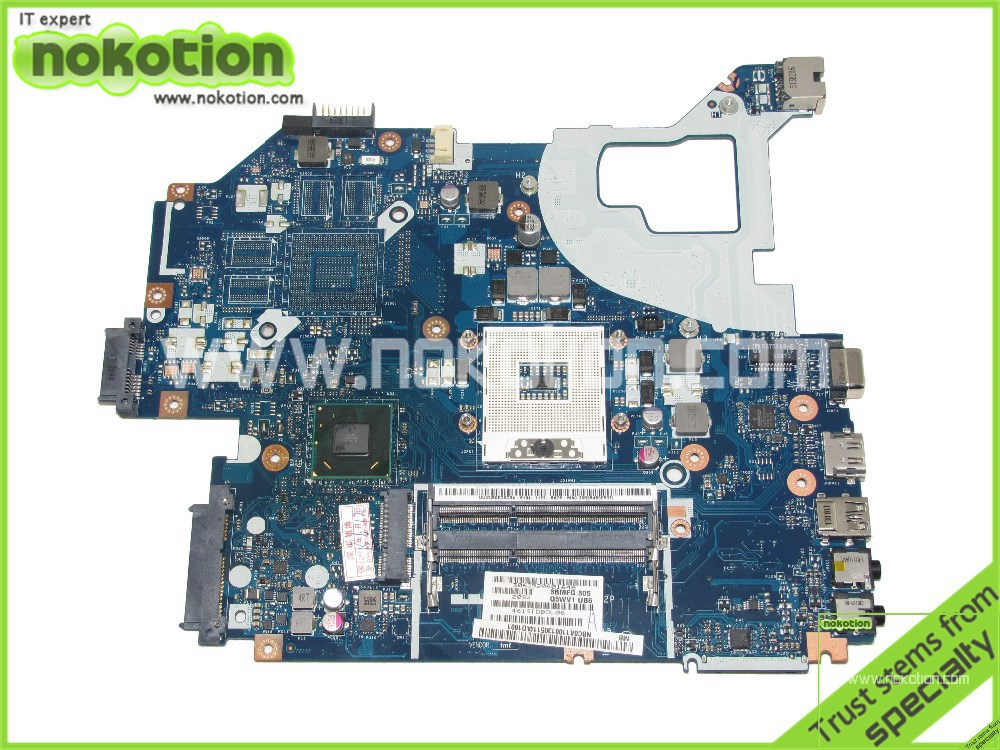 NOKOTION Laptop Motherboard For Acer Aspire V3-571 NV56R NBY1111001 NB.Y1111.001 Q5WVH LA-7912P Mother Board Intel DDR3 nokotion for acer aspire m5 481 laptop motherboard nbm3w11002 da0z09mbah0 intel integrated hm77 ddr3