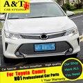 Для Camry отделка & T Для Toyota Camry Решетка хромированной отделкой автомобиля стиль 2015 Для Camry металлическая Решетка полосы наклейки Автомобилей Специального высокой-q