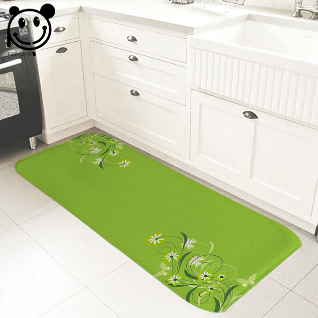PEIYUAN Indoor Doormat Yoga Mat Door Mat Print Plant Flowers Floor Mat Rug  Carpet For Bedroom