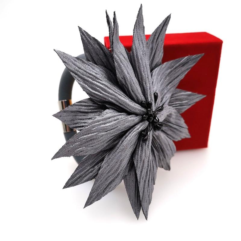Купить с кэшбэком YD&YDBZ Grey Handmade Flowers Bracelets For Women Personality Stranger Things Harajuku Style Bracelet Hewellery Party Dance Gift