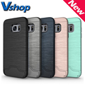 Case For Samsung Galaxy S7 Edge / S7 Brushed Texture Separable TPU + PC Combination Mobile Phone Back Cover Card Slot Holder