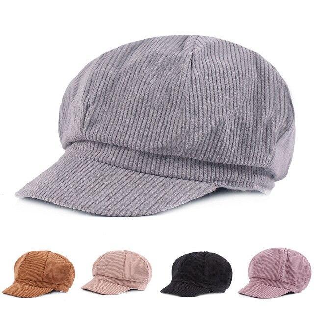 Cotton Newsboy Beret Cap For Men Women Autumn Winter Caps Fashion Octagonal  Artist Painter Hat Striped aa83ac3a1176