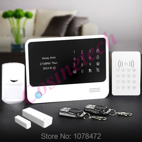 GPRS WiFi GSM alarm system with IOS Android APP Control RFID Keypad Home Alarm System smart home alarm system with alarm sensor intelligent home security alarm system with new door sensor pir detector app control sms gsm alarm system support rfid keypad