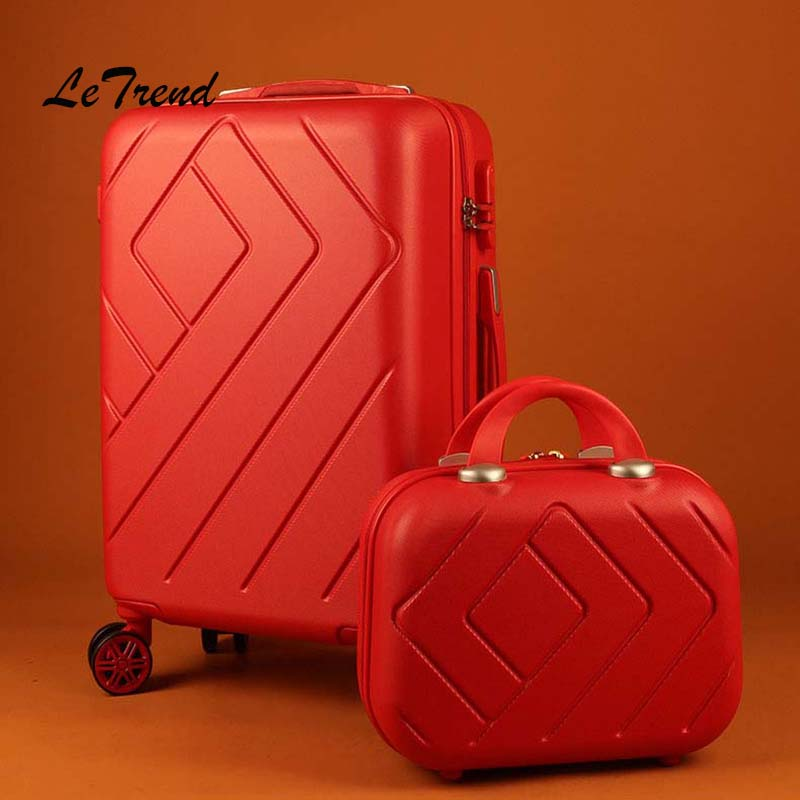 Letrend Women Suitcases Wheel Trolley Rolling Luggage Set Spinner vintage Travel Bag Student Carry on Luggage password HardsideLetrend Women Suitcases Wheel Trolley Rolling Luggage Set Spinner vintage Travel Bag Student Carry on Luggage password Hardside