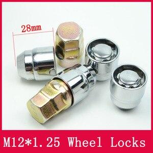 Image 1 - 4 אגוזים + 2 מפתחות M12x1.25 1.25 גלגל אגוזי נעל מנעולי אבטחה נגד גניבת אגוז Fit עבור ניסן Teana Bulebird sylphy הקאשקאי LS010 06