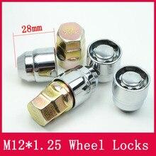 4 porcas + 2 chaves m12x1.25 1.25, fechaduras de roda porcas de bagagem anti roubo porca de segurança adequada para nissan teana bulebird sylphy qashqai LS010 06