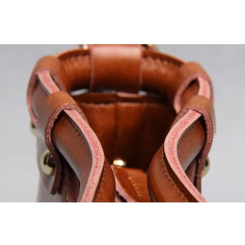 Vintage split lederen tas mode handtas dames draagtas vrouwelijke - Handtassen - Foto 5