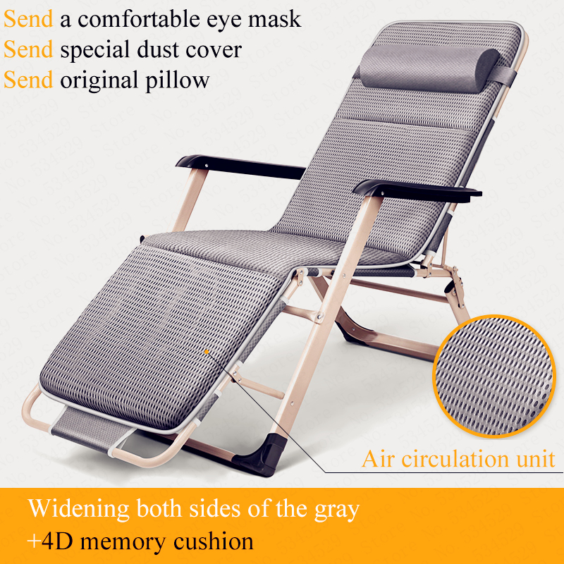 Foldable Chaise Lounge Recliner Office Nap Bed Adjustable Sleeping Chair For Tumbona Jardin Outdoor Beach Military Hiking Travel
