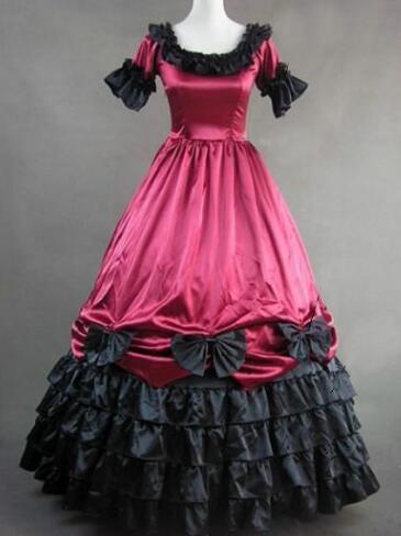 Здесь продается  Can be custom 2015 Fashion Cascading Ruffle Cotton Short Sleeve Renaissance Victorian Gothic lolita dress  Одежда и аксессуары