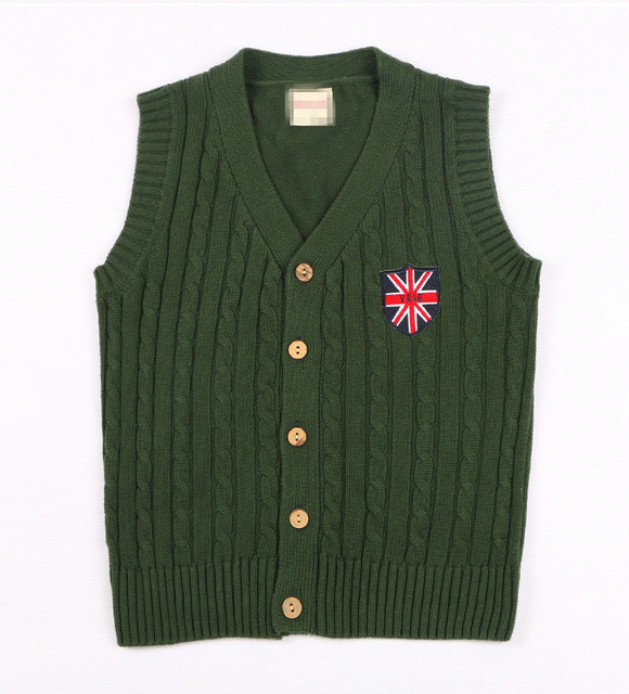 Teenage 5-14Y V-neck Sleeveless Sweater Vest Children Sweatercoat Kids Knit Jacket Waistcoat Coat Clothes Spring AS-1600-1
