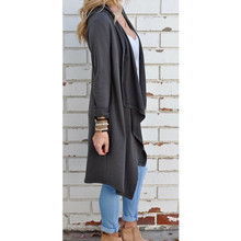 Women Outerwear Coat – Cardigan Long Sleeve Irregular Coats – Plus Size
