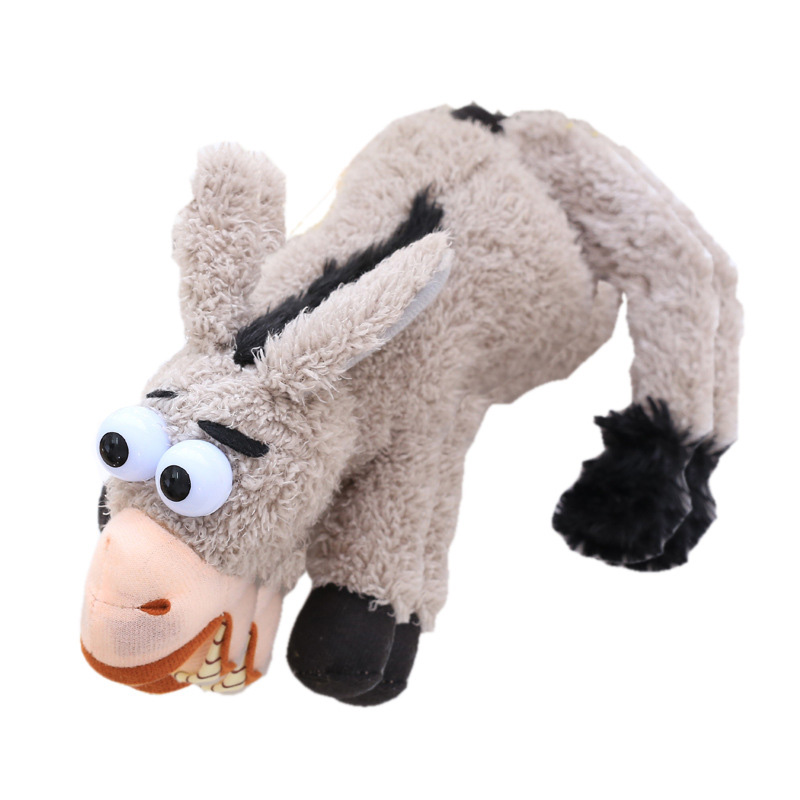 Baby Kids Children Electronic Rolling Laughing Donkey Plush Funny Toy Talking Donkey Plush Recording Electric Toys Birthday Gif