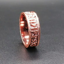 Rose Futhark Rune Ring women Nordic Alphabet pagan Viking Jewelry Drop Shipping1pc(China)
