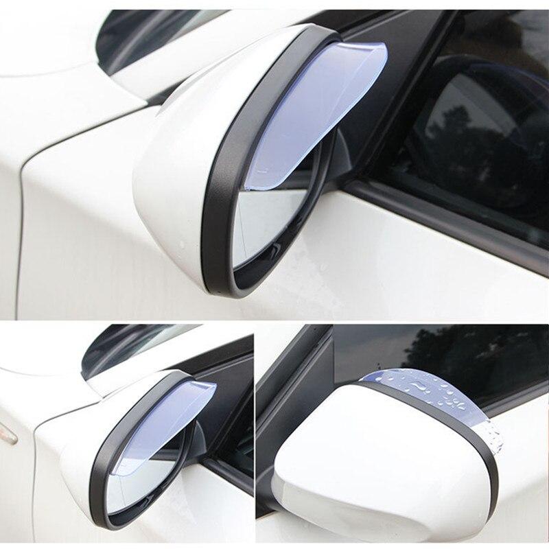 Lite Car Rearview Mirror Rain Eyebrow Visor Rearview Mirror Rain Eyebrows Flashing Mirror Reflector Visor