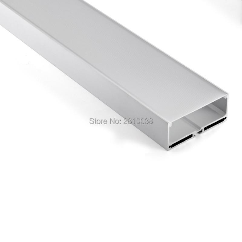 10X1M Sets / Lote Perfil de aluminio anodizado plateado para tiras de - Iluminación LED - foto 2