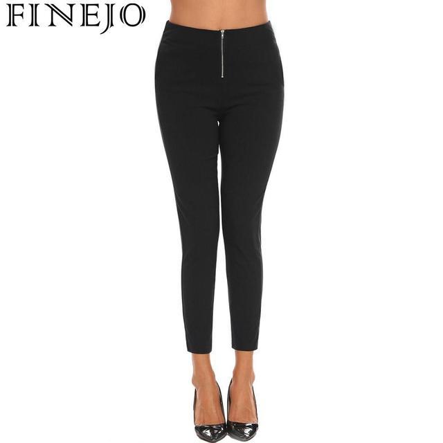 FINEJO Feminina Autumn 2018 Sheath Pencil Ankle Solid Stretchy Casual Slim Fit Skinny