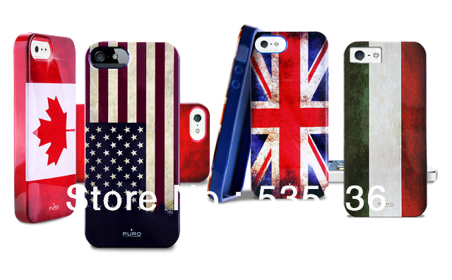 American  Retro Flag soft TPU case cover for iPhone5      Puro Flag Covers TPU soft case cover skin for apple