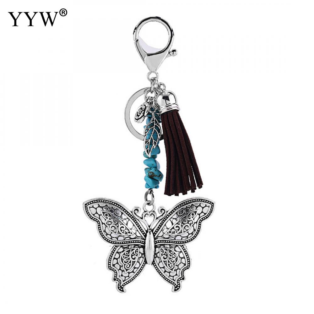 One piece free shipping key clasp chain Jewelry Findings and Components decoration butterfly key clasp