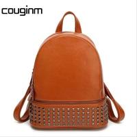 New Ladies Backpack Shoulder Bag Korean Badge Rivets Personality Nylon Casual Fashion Travel Backpack Factory Direct