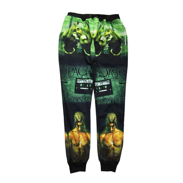 2015 nuevo 3d pantalones gran rapero tupac 2pac classic imágenes impresas pantalones deportivos hip hop pantalones largos para hombre pantalones deportivos pantalones deportivos